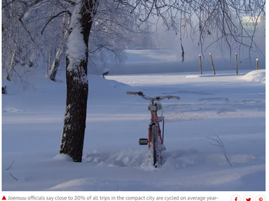 Winter wheelies: Finland blazes trail in keeping citizens cycling and healthy - The Guardian