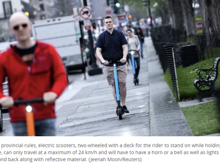 Move over bikes, e-scooters might be coming to London - CBC