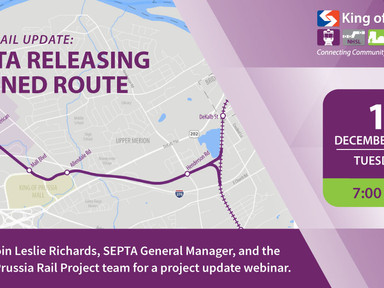 You're Invited: SEPTA Releasing KOP Rail's Refined Route