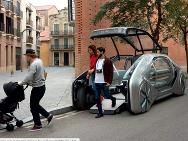 EZ-GO is an electric driverless ride-share vehicle by Renault - Curbed