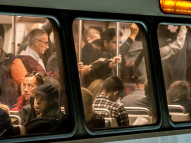 Yes, being surrounded by other people is a strength of public transportation - Mobility Lab