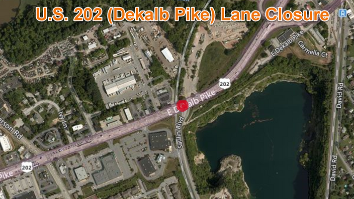 U.S. 202 (Dekalb Pike) Lane Closure for Local Trail Project in Upper Merion Township