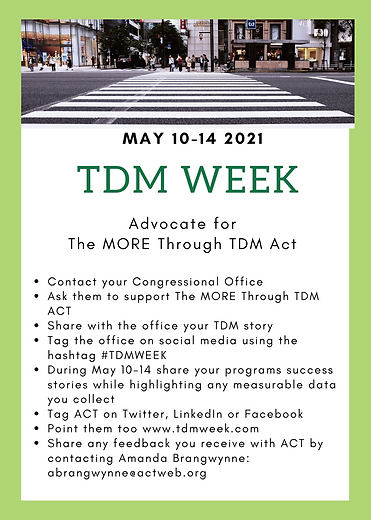 Adovcate for the MORE Through TDM Act.pn