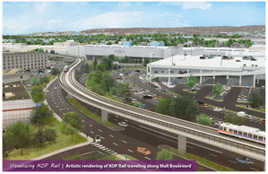 SEPTA'S KING OF PRUSSIA RAIL PROJECT REACHES TWO MILESTONES Design engineering firm selected by SEPT
