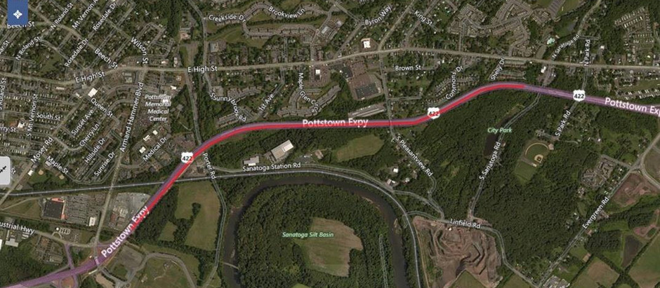 U.S. 422 East Daytime Lane Closure This Friday, Early Next Week in Montgomery County