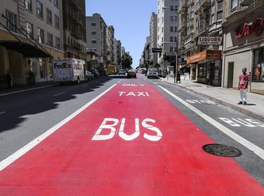 To Build a Better Bus Lane, Just Paint It - City Lab