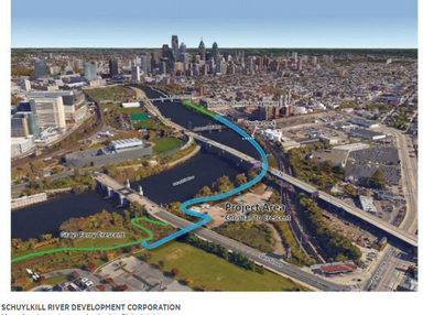 Philly proposes $43 million Schuylkill trail extension to include bridge with scenic overlook - Phil