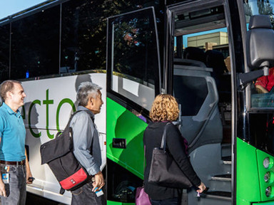Buses fuel the core of Microsoft's aggressive employee-commute program - Mobility Lab