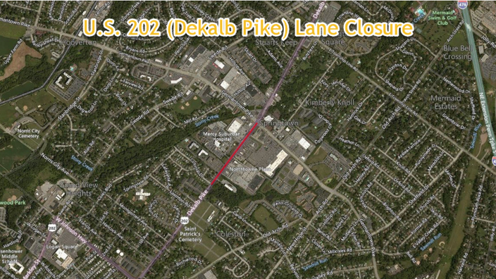 East Norriton Township to Restrict U.S. 202 (Dekalb Pike) for Utility Improvement