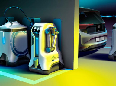 """VW's Robots and """"Battery Wagons"""" Could Turn Every Garage Parking Space Into An EV Charging Station -"""