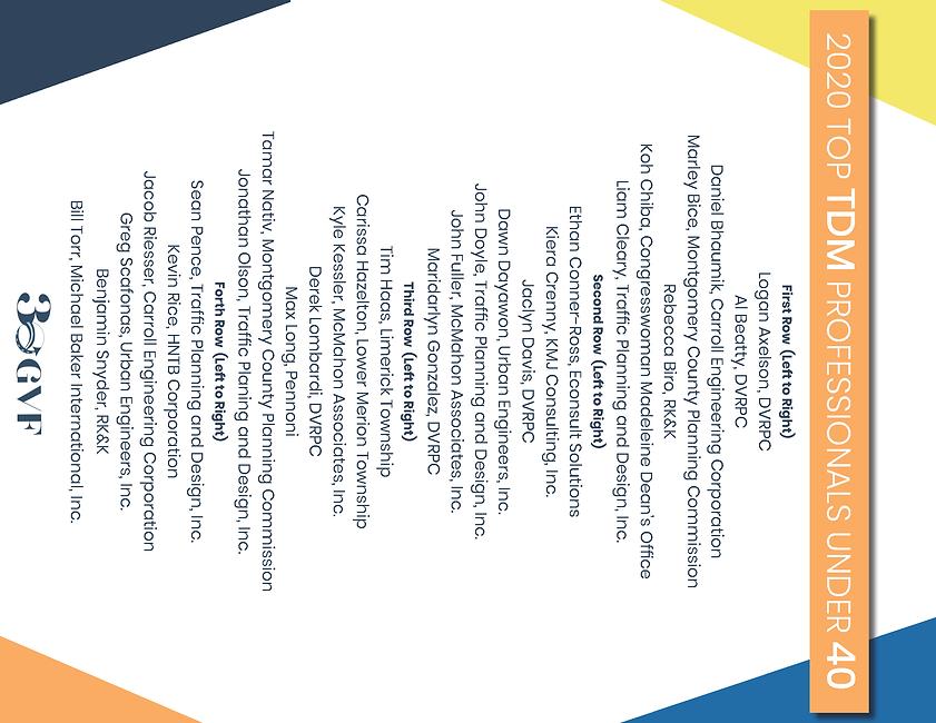 Top TDM Professional Under 40 Headshots