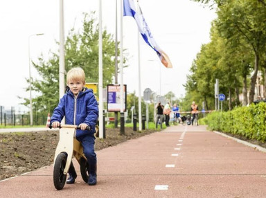 The Netherlands is testing a bike lane made from recycled plastic