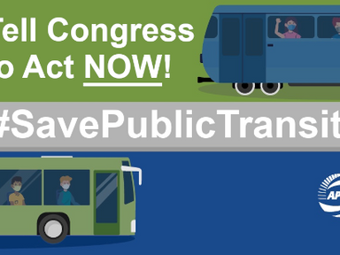 GVF Joins Public Transit Systems Around the Country in Urging Congress to #SavePublicTransit