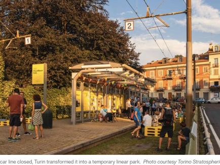 Turin Turned an Abandoned Tramway into a Linear Park - CityLab