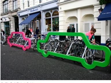 Car-shaped Bike Rack Holds 10 bikes - TheCityFix