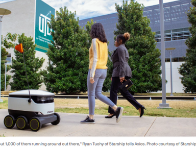 "Sidewalk robots get legal rights as ""pedestrians"" - AXIOS"