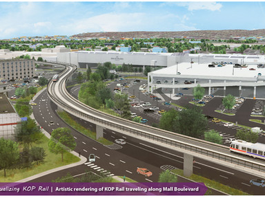 DVRPC's Andrew Svekla talks to GVF about the King of Prussia Rail Station Area Planning Study -