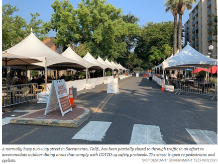 COVID-19 Gives Rise to 'Slow Streets,' Curb Creativity - Government Technology
