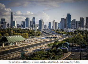 Tel Aviv pilots 'electric road' to charge buses - Cities Today