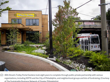 How Philly transformed a trolley station into a garden - WHYY