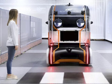 Driverless car concept uses 'virtual eyes' to connect with pedestrians - Curbed