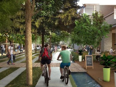 Thanks to autonomous vehicles, we could have these utopian, tree-filled streets - Curbed