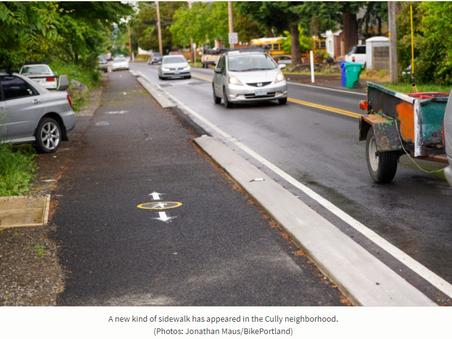First Look: Portland's novel 'alternative pedestrian walkway' - BikePortland