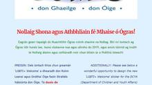 Nuachtlitir Eagrán 11 - Nollaig Shona agus Comórtas Greamán LGBTI+!