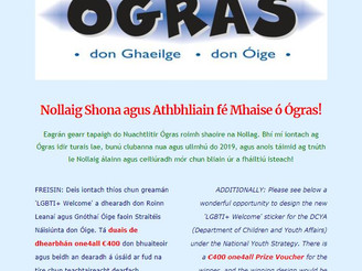 Ógras Newsletter 11th Issue - Christmas wishes and LGBTI+ Sticker Competition!