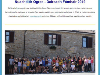 Ógras Newsletter 15th Issue - New Youth Theatre Club ÁrDán, 50 Year Celebration, Summer Camps, Italy