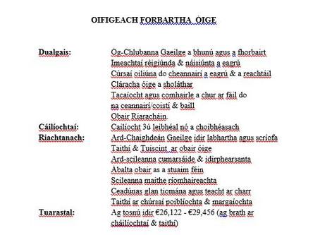 Ag Earcú! - Oifigeach Forbartha an Oirthir