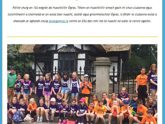 Ógras Newsletter 13th Issue - Summer Camps, Gaeltacht Trip and Seachtain na Gaeilge