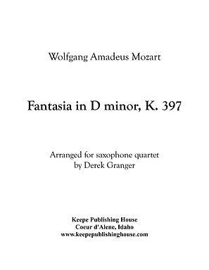 Mozart Fantasia D minor - Score and Part
