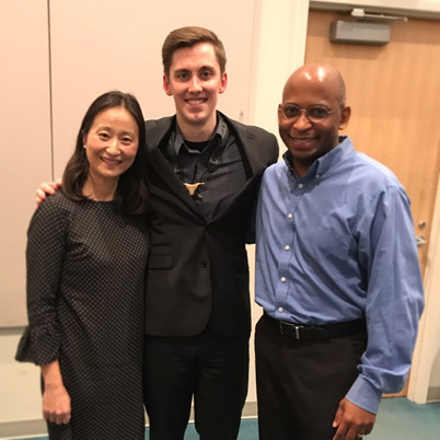 With Dr. Otis Murphy and Mrs. Haruko Murphy after my second masters recital