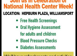Health Fair August 13th!