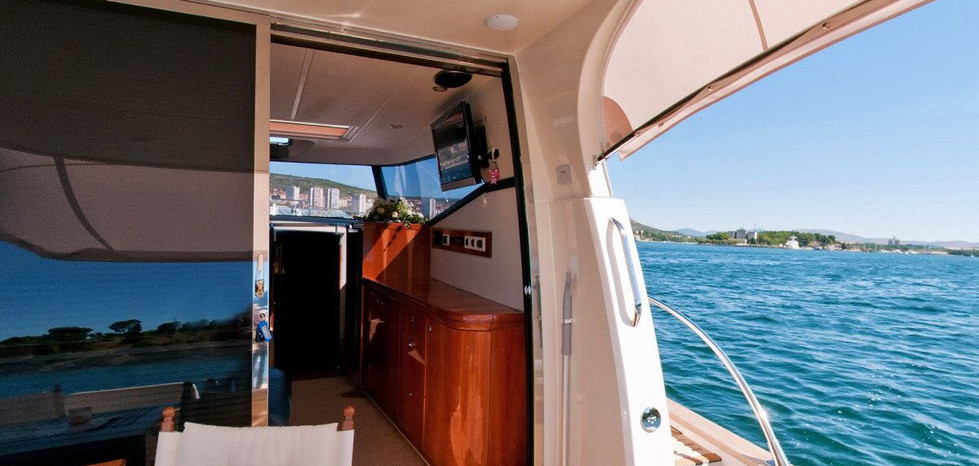 The interior for all three models is built as selected by the customer, in three-cabin, two-cabin or single-cabin versions. The material used in classic evergreen interior style is most commonly teak or other type of natural wood, and we also offer creative 'Shabby chic', 'Hi-tech' or 'Shabby-tech' interior styles.