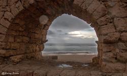 Aqueduct ruin in Caesarea