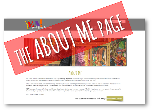 The About Me page blog Yochi Eisner Associates