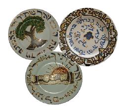 The Kallah Whisperer Israel Tena'im plates