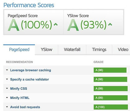 Performance scores in the marketing audit