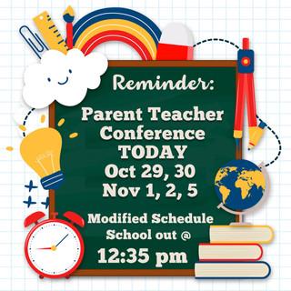 Parent Teacher Conference Reminder 2018.
