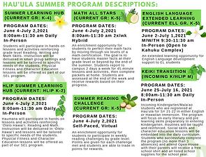 Hauula Summer Program 2021 Description.P