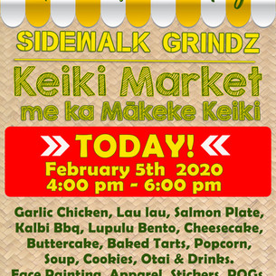 Sidewalk Grinds & Keiki Market. TODAY..j
