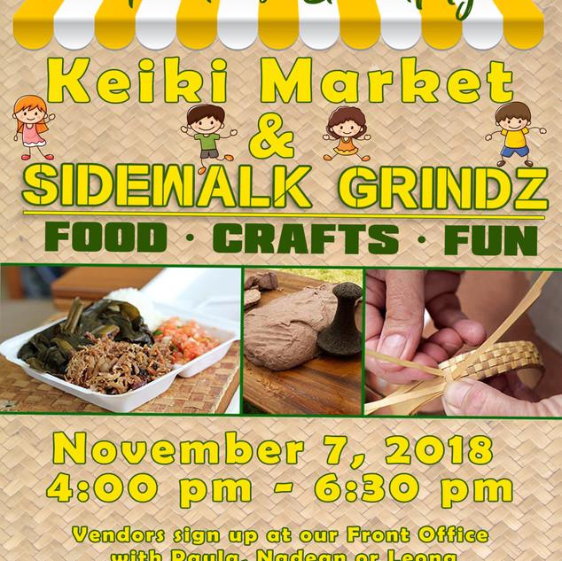 Keiki Market & Sidewalk Grindz.8x10.Flye