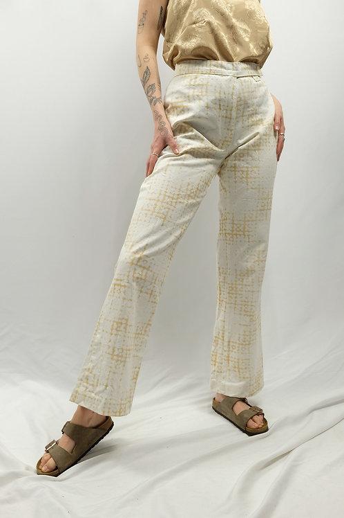 Vintage Mid Waist Flared Leg Hose  - M