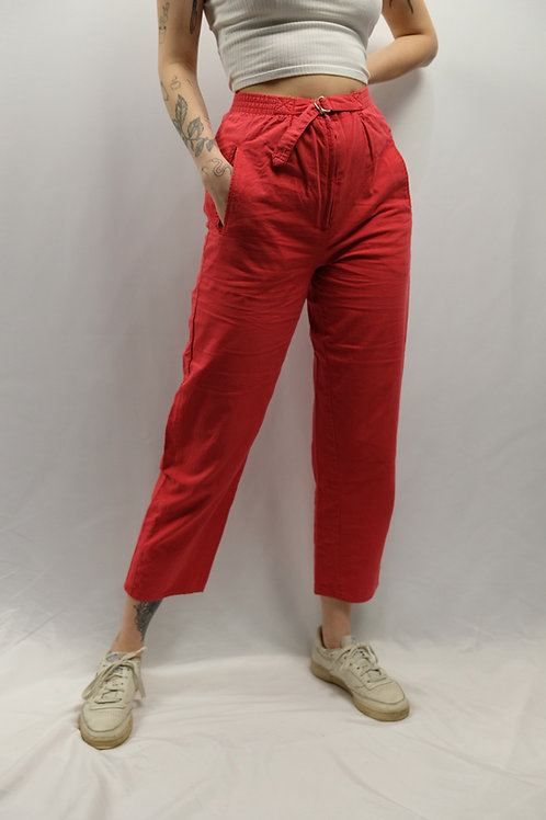 Vintage 80s High Waist Sommerhose  - L