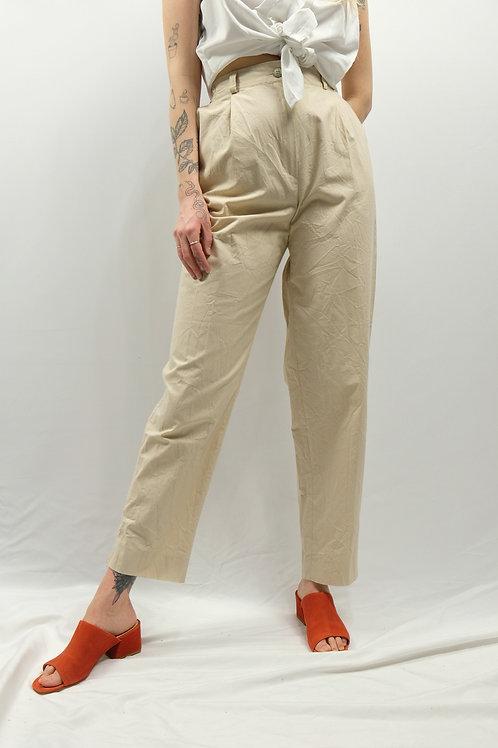 Vintage Bundfaltenhose - L