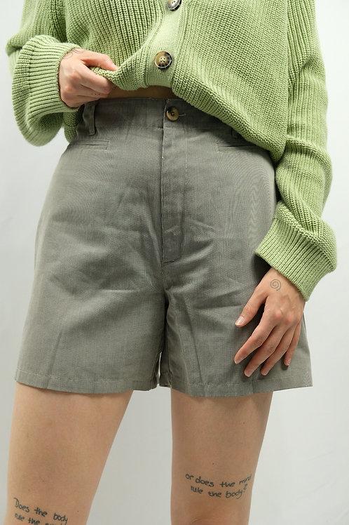 Vintage High Waist Karo-Shorts  - L