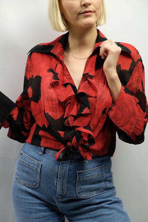 Vintage Cropped Bluse  - L