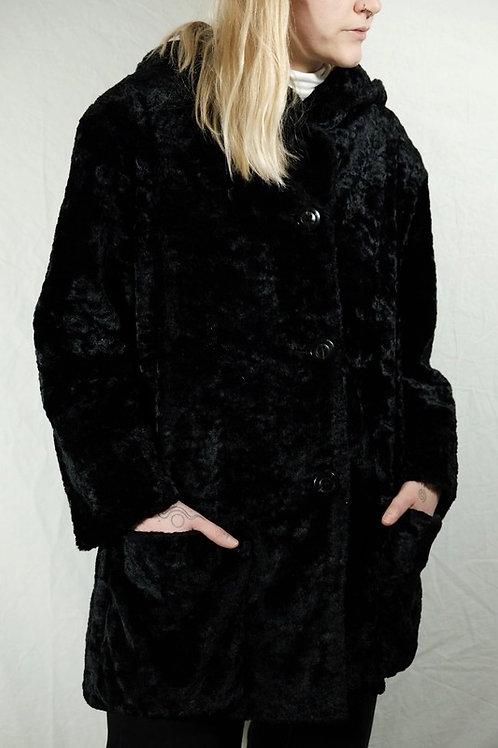 Vintage Fake-Fur Mantel - XS